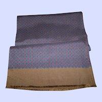 Wonderful Quality Fringed Silk Scarf Decorative Print Wearable ART