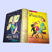Flip Hard Cover Book The Adventures of PINOCCHIO and The Stories of King Arthur and his Knights