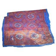 Wonderful Delicate Sheer Crepe Silk Scarf Richly Decorative  Pattern Fashion Accessory Scarf