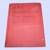 Hard Cover Book Alice In Wonderland By Lewis Carroll Illustrated by Rene Cloke P.R. Gawthorn LTD AS IS