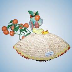 An Original Chiquita Doll from Puerto Rico Plastic Fruit and Sleepy Eyes Souvenir Travel Keepsake