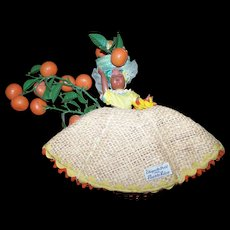 An Original Chiquita Doll from Puerto Rico Plastic Fruit and Sleepy Eyes Souvenir Travel Keepsake