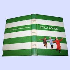 Vintage Hard Cover School Primer Reader Follow Me Level 3 Gage School Textbook