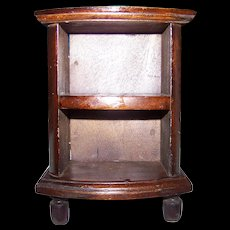 Small Toy  Salesman Sample Wood Cabinet Stand 7 Inches Tall Great for Display