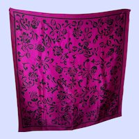 A Decorative Purple and Black Silk Scarf  Designer  Signed ECHO
