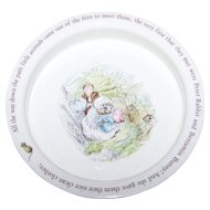Vintage Collectible  Wedgwood Beatrix Potter Baby Dish Porridge Bowl Mrs. Tiggy-Winkle
