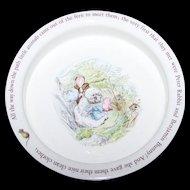 Vintage Collectible  Wedgwood Beatrix Potter Baby Dish Porridge Bowl Mrs. Tiggy-Winkle