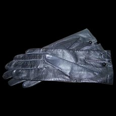 Designer dawnelle Gloves in Black Leather Size Ladies 7 1/2