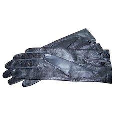 Designer dawnelle Gloves in Black Leather Size Ladies 7 1/2