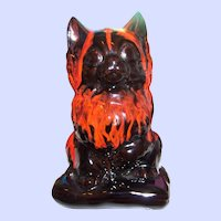 Vintage Canadian Canuck Evangeline Pottery Kitty Cat Figural Bank