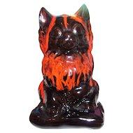 Vintage Canadian Canuck Evangeline Pottery Kitty Cat Figural Bank