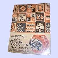 Soft Cover Book American Indian Design & Decoration Le Roy H. Appleton