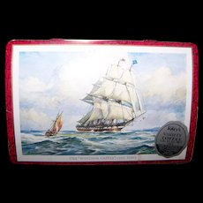 The Windsor Castle Vessel Ship 1250 Tons Advertising Tin Litho Box Riley's Toffee