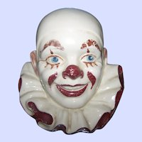 What A Rare Find Pierrot The Clown Head Bust Table Desk Top Wool String Holder Dispenser