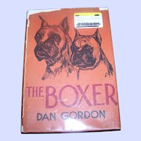 The Boxer Hard Cover Book Photographs and Illustrations Dan Gordon  1948