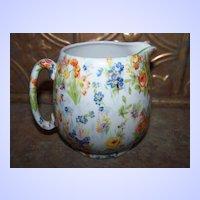 Milk / Syrup Jug Ceramic Chintz Floral Japan