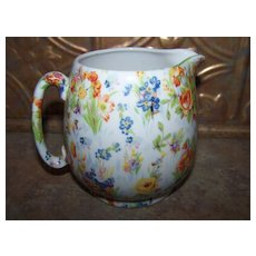 Milk / Syrup Jug Ceramic Chintz Floral Japan