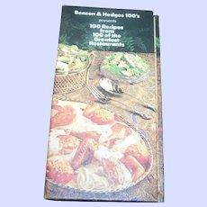 Advertising Cook Book Benson & Hedges 100's Presents 100 Recipes World's Greatest Restaurants