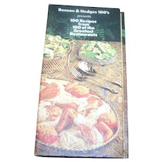 Advertising Cook Book Benson & Hedges 100's Presents 100 Recipes World's Greatest Restaurants