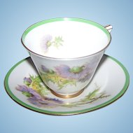 Royal Doulton Glamis Thistle SIgned P Curnock Tea Cup & Saucer Set