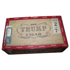 The Trump Advertising Cigar  Box ( Empty ) Canadian Collectible