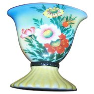 Simply Beautiful A Vintage Deco Style  Hand Decorated  Trico China Hand Vase  Nagoya  Japan