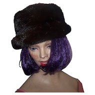A Lovely Quality Vintage Brown Mink Fur Hat By Foxy