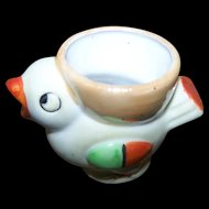 Charming  Lustre Ware Chick Hand Decorated   Figural  Easter Eggcup Egg Cup