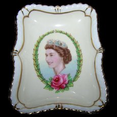 Royal Crown Derby Bone China Pin Tray Dish Queen Elizabeth II  Coronation Year