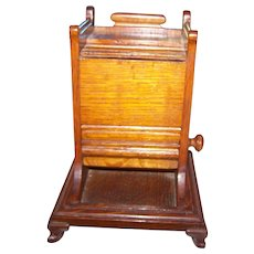 Vintage Mechanical Oak Wood Cigarette Dispenser Holder Home Decor Accent