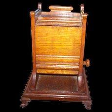 Vintage Oak Wood Cigarette Dispenser Holder Home Decor Accent