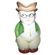 Vintage Porcelain Hand Painted Toby Jug Stating PICKWICK  Incised Number 6526
