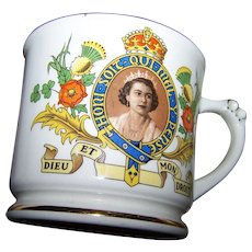 Vintage Collectible Souvenir Mug Empire England The Coronation of Queen Elizabeth 1953