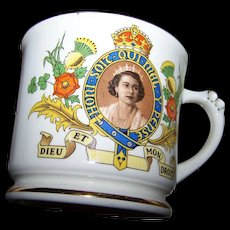 Vintage Collectible Souvenir Mug Empire England The Coronation of Queen Elizabeth 1953