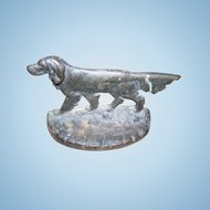 ONE Vintage Cast Metal Pointer Setter  RETRIEVER  Hunting Dog Single Bookend or Doorstop