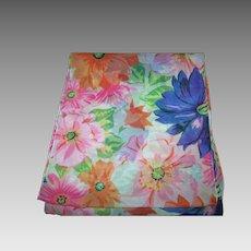 Beautiful Sheer Delicate Rectangular  Designer Signed Diane Von Fürstenberg  Floral Pattern Scarf