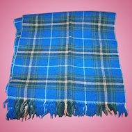 Fringed Nova Scotia Tartan Hand Woven Wool Scarf Star of the Sea Handicrafts