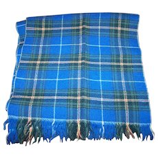 Fringed Nova Scotia Tartan Hand Woven Wool Scarf Star of the Sea Handicrafts