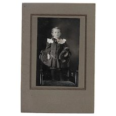 Charming Black & White Photograph of a Little Boy Child and his Teddy Bear Hatfield Tusket Nova Scotia
