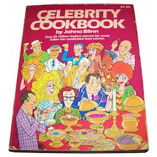 Soft Cover CELEBRITY CookBook by Johna Blinn C. 1981 First Edition