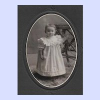 Sweet Little Girl B&W Photograph F.E. Garber Bridgewater N.S. Canada