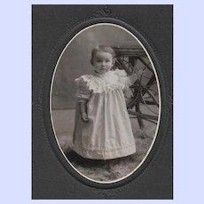 Sweet Little Girl B&W Photograph F.E. Garber Bridgewater N.S. Canada