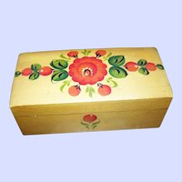 Lovely Little Hand Painted Pennsylvania Dutch Inspired Pine Box