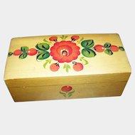 Lovely Little Hand Painted Pennsylvania Dutch Inspired Pine Box