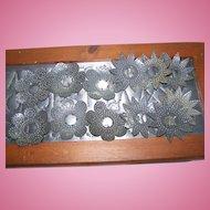 14 Vintage Punched Decorative Metal Tin Christmas Xmas  Light Reflectors 1930's Era
