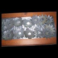 12   Vintage Punched Decorative Metal Tin Christmas Xmas  Light Reflectors 1930's Era