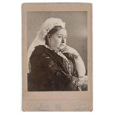 Rare CDV Portrait Photograph of QUEEN VICTORIA of Great Britian / Britain Empress of India