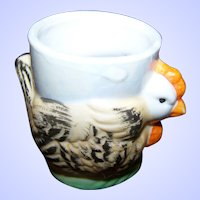 Sweet Hand Painted Figural Ceramic Hen Easter Egg Cup Japan