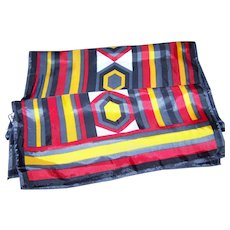 Lovely Long Rectangular Acetate Geometric Themed Fashion Scarf