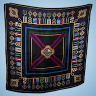Talbots Fashion Accessory  Silk Scarf Medal Ribbon Theme Wearable ART